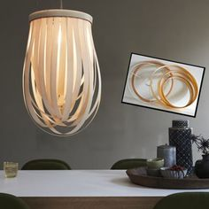Lamp shade DIY wood veneer DEUTSCH Furnierleuchte