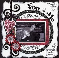 You & Me. Love the Red, Black & White!