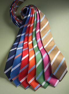 Silk Print Stripe Ties
