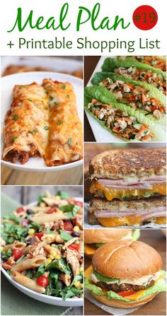An EASY (family-friendly) meal plan that includes slow cooker beef enchiladas, black bean burgers, BBQ chicken pasta salad, spicy chicken lettuce wraps and grilled ham and cheese sandwich! Free printable shopping list is included! The hardest part of creating a meal plan is finding the ideas, and creating a shopping list, so I've done that for you!... Read More »
