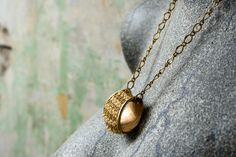 Vintage Gold and Pearl Necklace Gold Pendant by NostalgicWarehouse