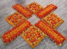 Rangoli Designs Flower, Rangoli Ideas, Flower Rangoli, Beautiful Rangoli Designs, Diya Decoration Ideas, Diwali Decorations At Home, Diwali Diya, Diwali Craft, Ribbon Crafts