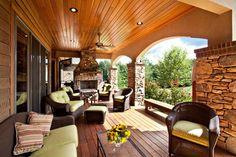 Mountain Ranch traditional porch