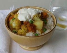 Cauliflower, pumpkin and pea curry | Budget recipe | Easy food recipes - Budget