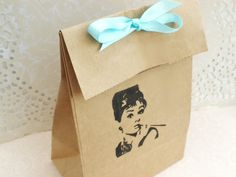 Audrey Hepburn- Tiffany and Co Party favor bags-Breakfast at Tiffanys on Etsy, $10.10 CAD