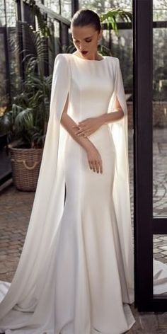 Simple Elegant Wedding Dress, Elegant Bride, Simple Dresses, Elegant Dresses, Pretty Dresses, Beautiful Dresses, Casual Dresses, Simple Party Dress, Elegant White Dress