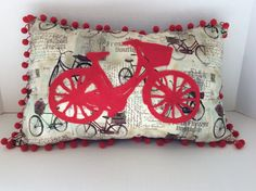 Hey, I found this really awesome Etsy listing at https://www.etsy.com/listing/270297843/pillow-bicycle-accent-pillow-throw