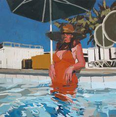 "Pooldeck, 8x10"", Oil on board, 2011: SOLD"