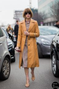 Anna Wintour after Bottega Veneta fashion show. STYLE DU MONDE on Instagram @styledumonde, Pinterest, Twitter, Tumblr and Facebook