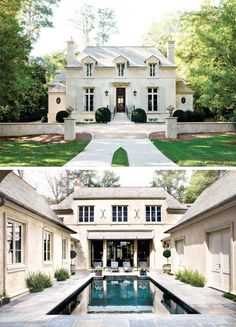Beautiful white stucco home (front and back)
