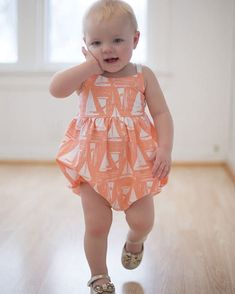 Romper Add on Pattern | PDF sewing pattern for baby/girls sizes NB-3t.