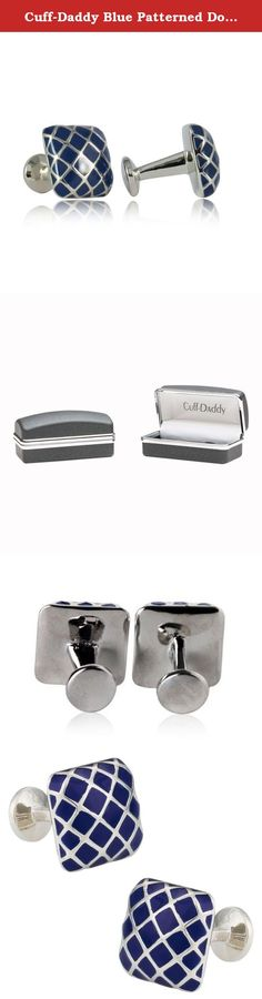 Cuff-Daddy Blue Patterned Domed Enamel Silver Cufflinks. Here is a unique set of enamel cufflinks provided by Cuff-Daddy. Please know that the enamel is very resilient and will not chip or flake and is covered by Cuff-Daddy's product warranty. These ship in a gift box.