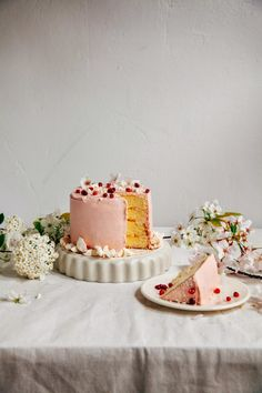 simply-divine-creation: Pomegranate Citrus Meringue Cake » Hummingbird High