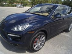 Porsche Cayenne Turbo We are proud to offer a very nice 2011 Porsche Cayenne Turbo Sport SUV with 25,xxx actual and carefully driven freeway miles, finished in beautiful Dark Blue Metallic over Luxor Beige Leather interior. 407-850-8501