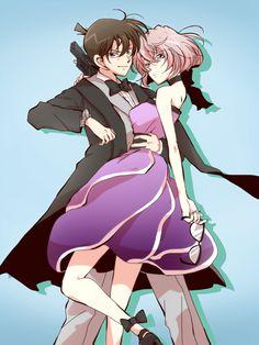 --Shinichi and Haibara--