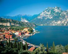 Lake Garda, between Venice and Milan.