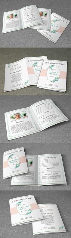 Funeral Program Template-V461 Funeral