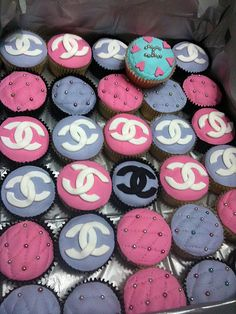 Box of Pink & Purple Coco Chanel Cupcakes by Cupcake Central (Sheryl), via Flickr