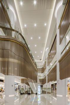 #DCA︱海港城商場,中山 Commercial Architecture, Interior Architecture, Interior Design, Shopping Mall Architecture, Mall Design, Nanjing, Space Interiors, Atrium, Department Store