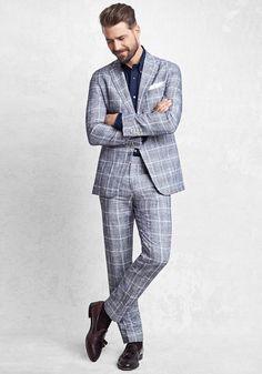 Today's Look: Checked Suit. Photo: Brooks Brothers. #ootd #menswear #mensfashion #mensstyle #instafashion #statementsuit #checkedsuit