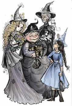 Magrat, Granny & You, Nanny & Greebo, Tiffany