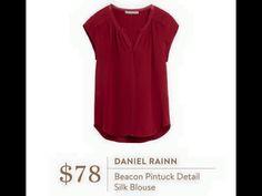 Daniel Rainn Beacon Pintuck Detail Silk Blouse This is my FAVORITE shirt that I have received.