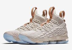 Nike Lebron 15 Ghost | 897648-200 Release Date: Oct 28, 2017 Price: $185 Style Code: 897648-200 Colors: String/Sail-Vachetta Tan #lebronjames #lebron15 #nike #basketball #nba #sneakers #sports #style #fashion