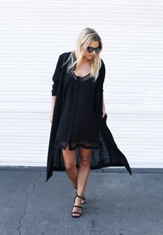 black classic outfit