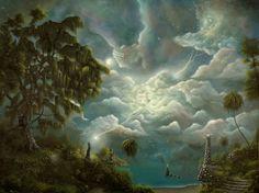 Philippe Fernandez 48 x 36 Original Painting Fantasy Witch Landscape Seascape Landscape Paintings, Landscape Artist, Surreal Art, Painting, Fantasy Landscape, Original Landscape Painting, Seascape Paintings, Landscape Art, Fairytale Art
