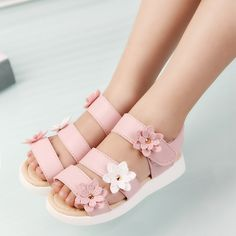 Cheap children sandals, Buy Quality children sandals girls directly from China sandals girl Suppliers: COZULMA Summer Style Children Sandals Girls Princess Beautiful Flower Shoes Kids Flat Sandals Baby Girls Roman Shoes Baby Girl Shoes, Baby Girls, Toddler Shoes, Boys Shoes, Girl Toddler, Barbie E Ken, Floral Sandals, Flower Shoes, Princess Shoes