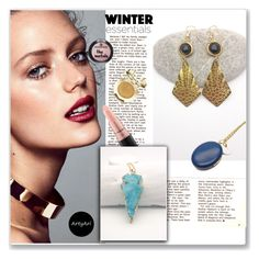 ArtyAri by mery66 on Polyvore  Navy blue photo locket necklace, Arrow Druzy Turquoise Necklace, Boho Gold and Black Onyx Earrings Diamond