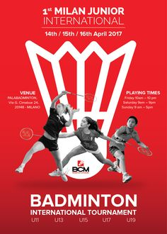 #badminton #International #youth and #junior #tournament in #Milano #Italy #poster #locandina #player #sport #BCM