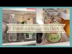 "HOME ORGANIZATION: Fridge Organization and Tips Check out the whole video from ""At Home With Nikki"". This lady always has wonderful ideas."