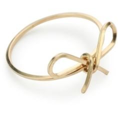 """By Boe """"Reminder Bow Ring"""" 14k Gold Filled, Size 7"""