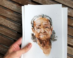 Portrait of an Old Woman original watercolour painting | Etsy Paper Dimensions, Brainstorm, Old Women, Watercolour Painting, Craft Supplies, Portraits, Etsy Shop, Woman, The Originals
