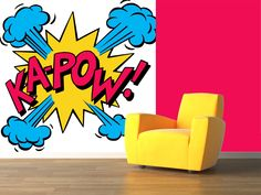 Along with all my stylish examples of letters in interior design here is a great wake-up kapow-example of Pop art inspiration for the home (Ann - Interior words)