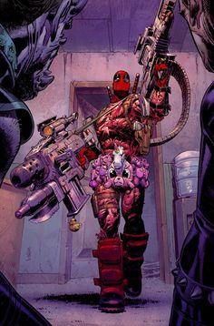 Messed up Deadpool Deadpool Art, Deadpool Funny, Deadpool And Spiderman, Lady Deadpool, Marvel Comics Art, Marvel Heroes, Marvel Comic Character, Marvel Characters, Plantas Versus Zombies