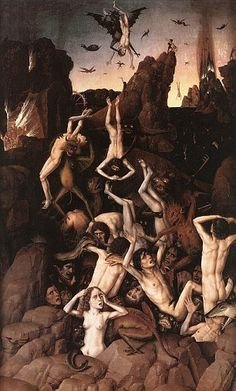 Dirck Bout's depiction of Hell evokes some of the strange and sinister visions Robertson claims to have seen while in a coma