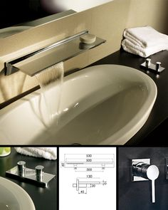 Waterblade Bathroom Sink Mixer Tap (370A)