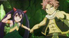 Natsu + Wendy - I fangirled so hard when I saw this. :D They are probably one of the best battle duos in this.