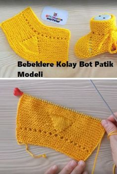 Easy Boot Booties for Babies - Stricken Diy Crafts New, Diy Crafts Knitting, Knitting Blogs, Baby Knitting Patterns, Knitting Designs, Gestrickte Booties, Crochet Baby Booties, Baby Boots, Free Baby Stuff
