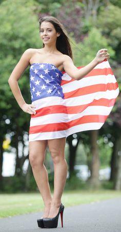 Zoe Whelan flying the flag for Lidl's USA week.