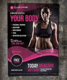 Club fitness flyer template - Tap the pin if you love super heroes too! Cause guess what? you will LOVE these super hero fitness shirts! Social Design, Gym Design, Flyer Design, Fitness Flyer, Zumba Fitness, Fitness Planner, Magazine Ideas, Workout Posters, Fitness Photoshoot