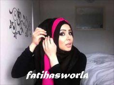 ▶ Layered hijab tutorial by fatiha'sWORLD - YouTube