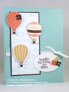 Stampin' Up! Birthday Card  by Amanda Mertz at Did You Stamp Today?: Birthday Balloons