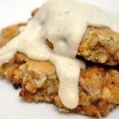 fried chicken with jalapeno cream gravy the brine gives this chicken ...