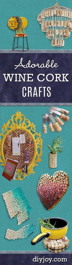 DIY Wine Cork Crafts | Creative Home Decor Projects by DIY JOY