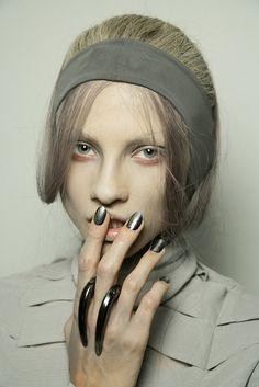 Moody silver at Gareth Pugh | StyleCaster