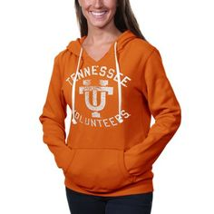 #Tennessee Volunteers Womens Vintage Logo Pullover Hoodie - Tennessee Orange