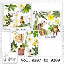 Vol. 0207 to 0209 -  Nature Mix  by D's Design  cudigitals.com cu commercial scrap scrapbook digital graphics#digitalscrapbooking #photoshop #digiscrap